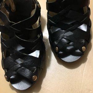 New (display) Michael kors black sandal heels sz 6